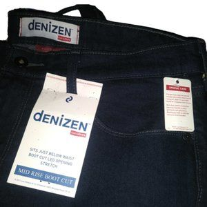 NWT Denizen By Levi's Mid Rise Boot Cut Jeans